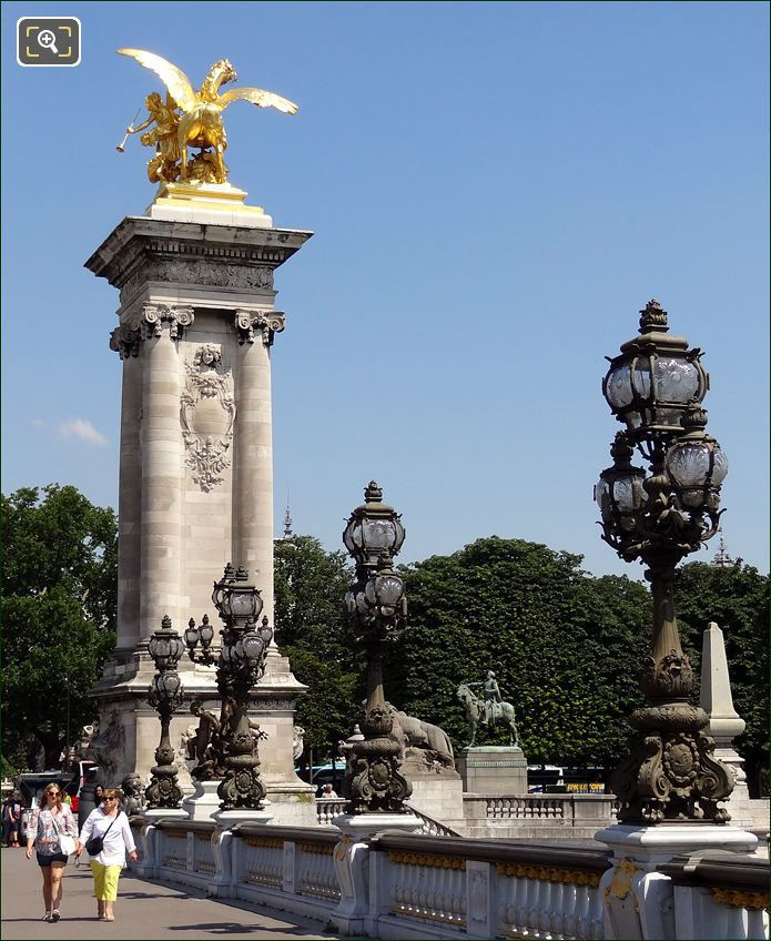 Pont Alexandre III Bridge in Paris