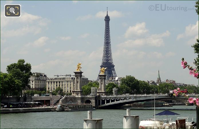 Pont Alexandre III With The Eiffel Tower In The Background