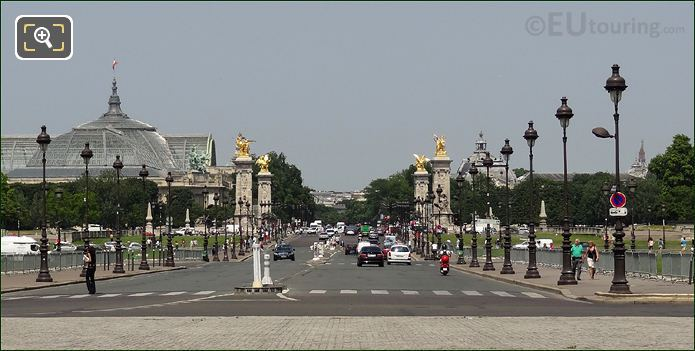 The Pont Alexandre III And Its Four Gilded Statues