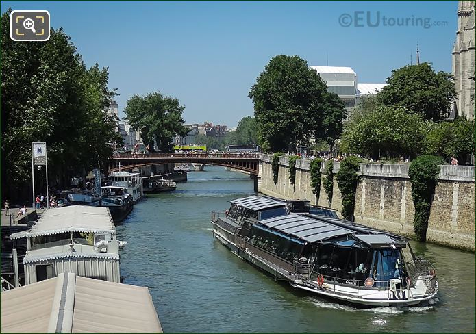 Pont Au Double Over The River Seine