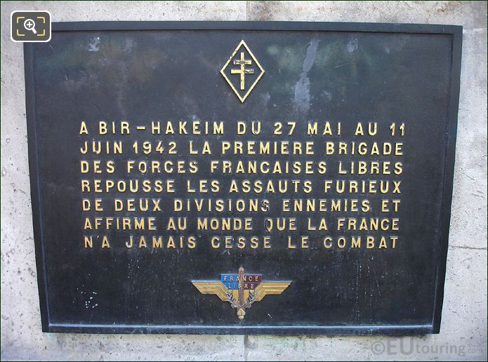 Plaque On The Pont de Bir-Hakeim