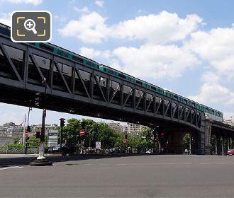 Metro Train On Pont de Bir-Hakeim