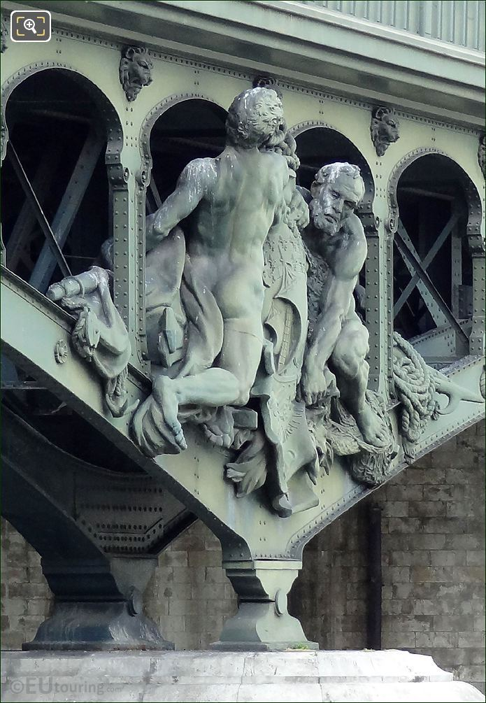 Boatmen Sculpture On Pont de Bir-Hakeim