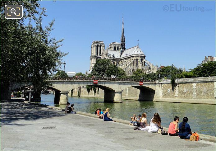 Pont De l'Archeveche With Notre Dame