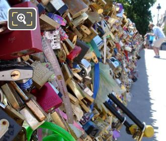 Love Locks On The Pont de l'Archeveche