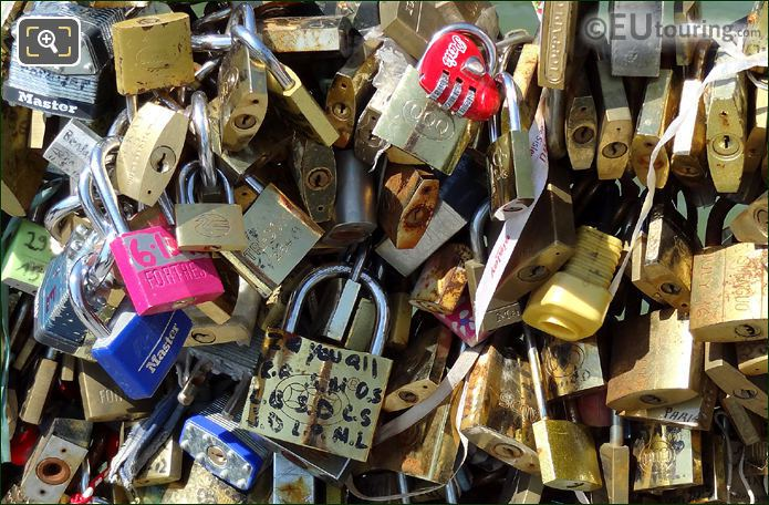 Padlocks On The Pont De l'Archeveche Bridge