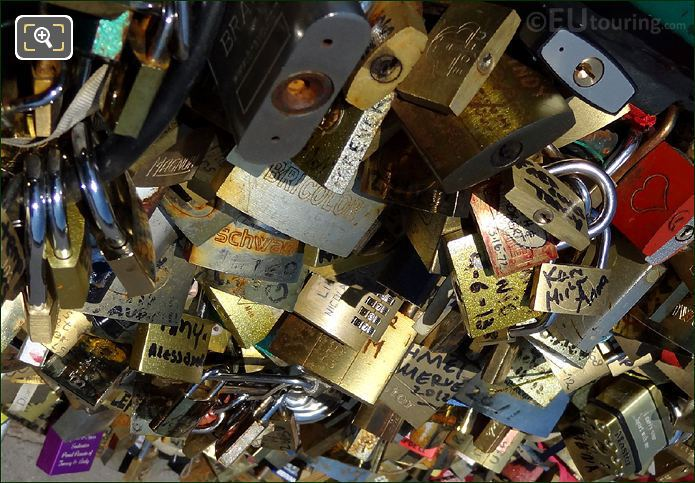 Love Locks dated 2011, 2012 And 2013