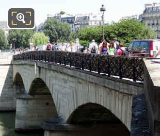 Pont De l'Archeveche Over The River Seine