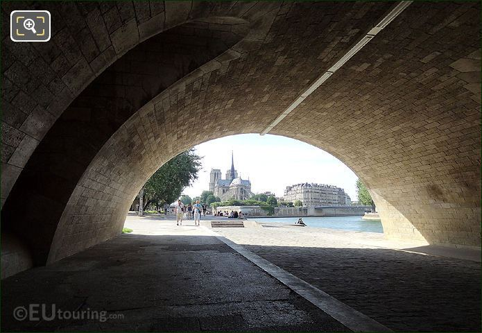 Pont De La Tournelle And Notre Dame