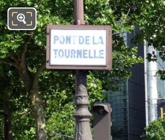 Pont De La Tournelle Name Plaque