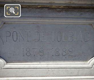 Pont De Tolbiac Plaque