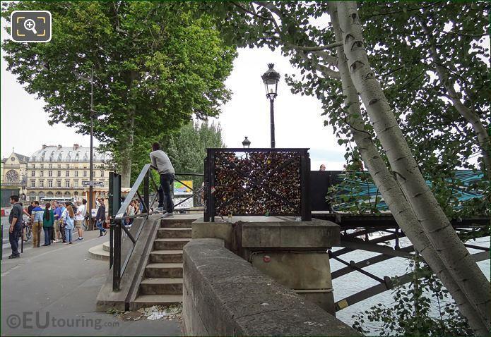 Pont Des Arts North End Steps