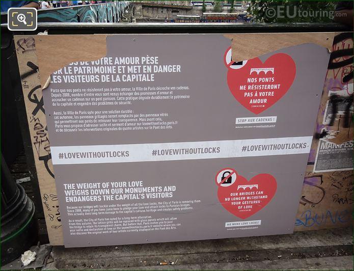Lovewithoutlocks Information Board