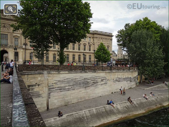 Bridge Of Love Railings Along Quai Des Tuileries