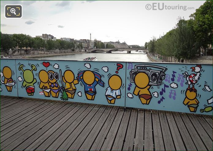 Street Art On Bridge Of Love 2015
