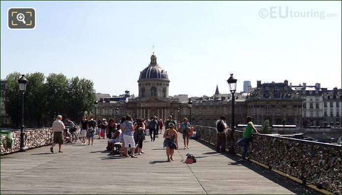 Institut De France With The Pont Des Arts