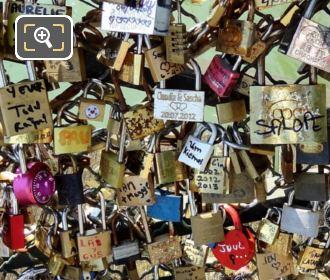 Love Locks On The Pont Des Arts