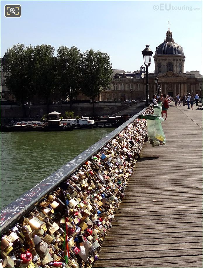 Love Locks Attached To The Bridge Of Love