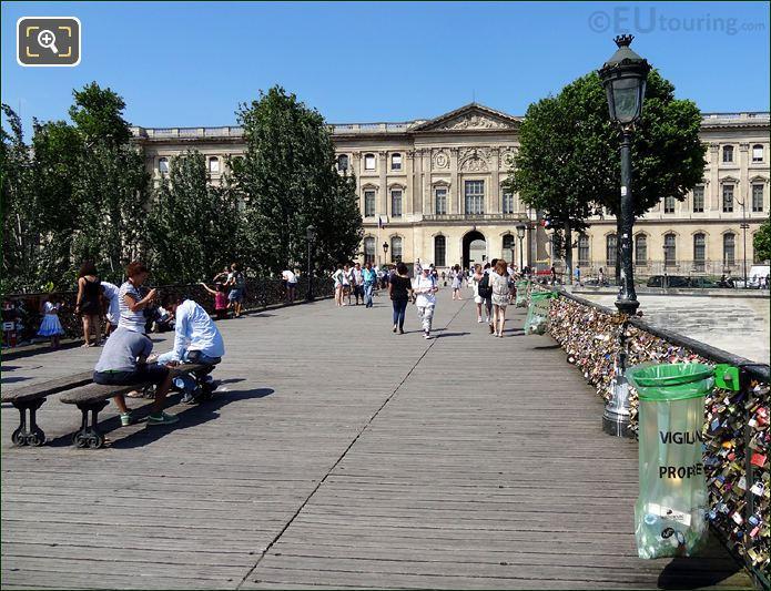Pont Des Arts Looking Towards The Louvre Museum