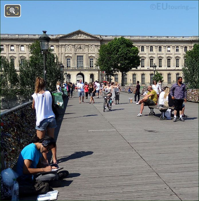 The Pont Des Arts Pedestrian Bridge