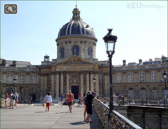 Pont Des Arts With The Institut De France