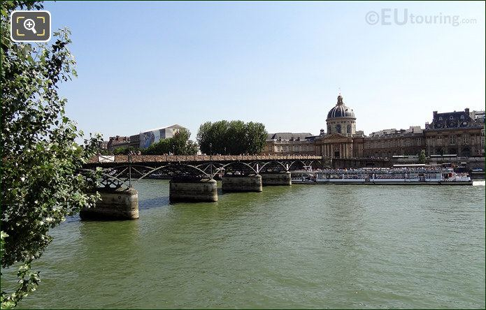 Pont Des Arts Bridge And The Institut De France