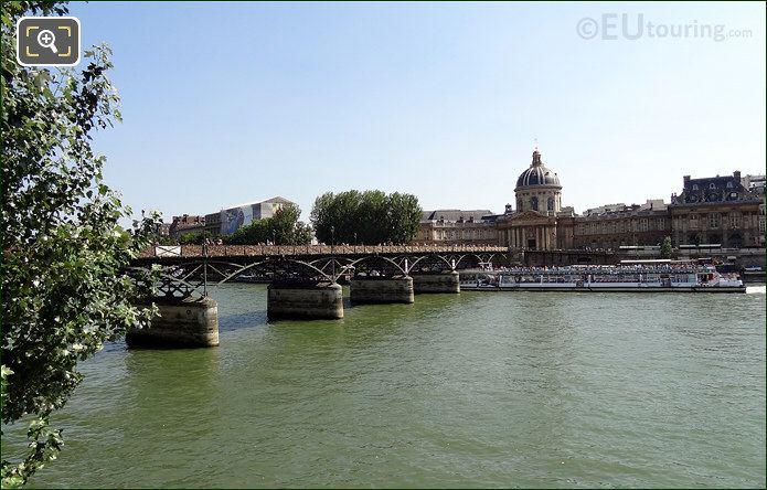 Pont Des Arts Bridge And The Institut De France