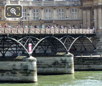 Pont Des Arts Structure With Its Support Pillars
