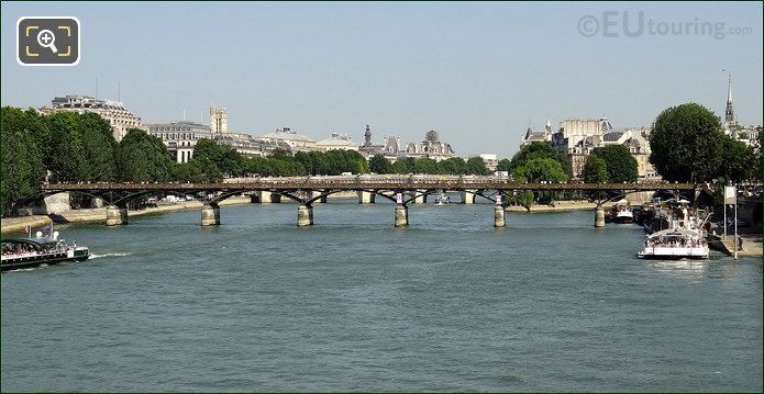 Pont Des Arts Over The River Seine