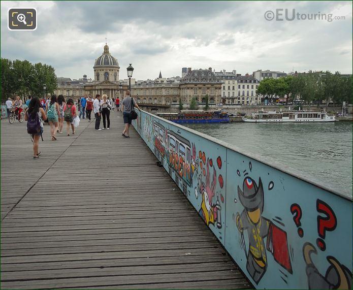 Painted Panels On Eastside Of Pont Des Arts