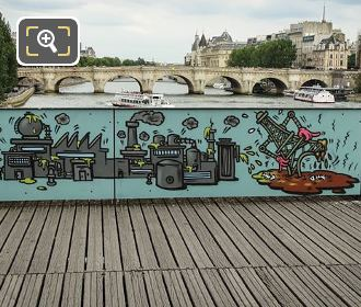 Toxic Art On Bridge Of Love