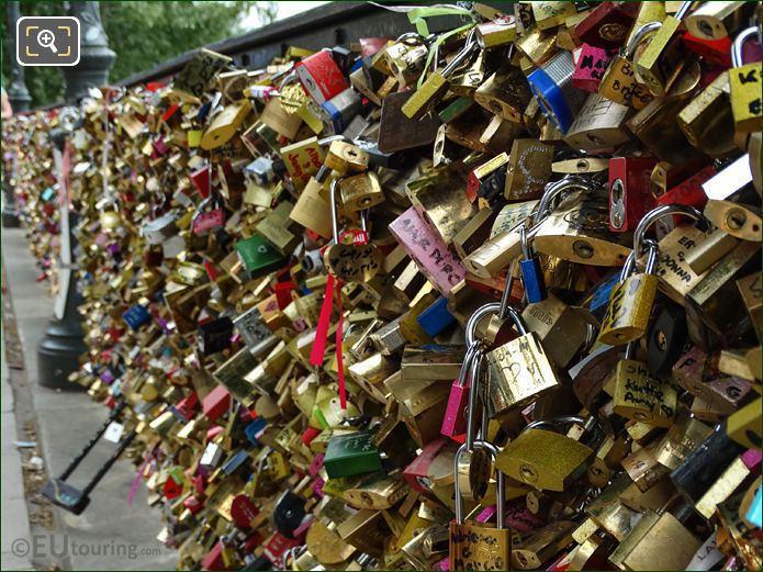 LoveLocks Still On Pont Des Arts