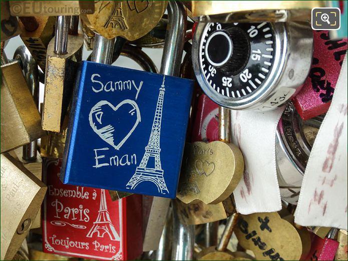 Sammy Loves Eman Love Lock Paris