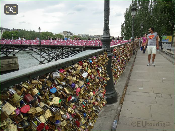 Love Lock Railings And New Panels On Pont Des Atrs
