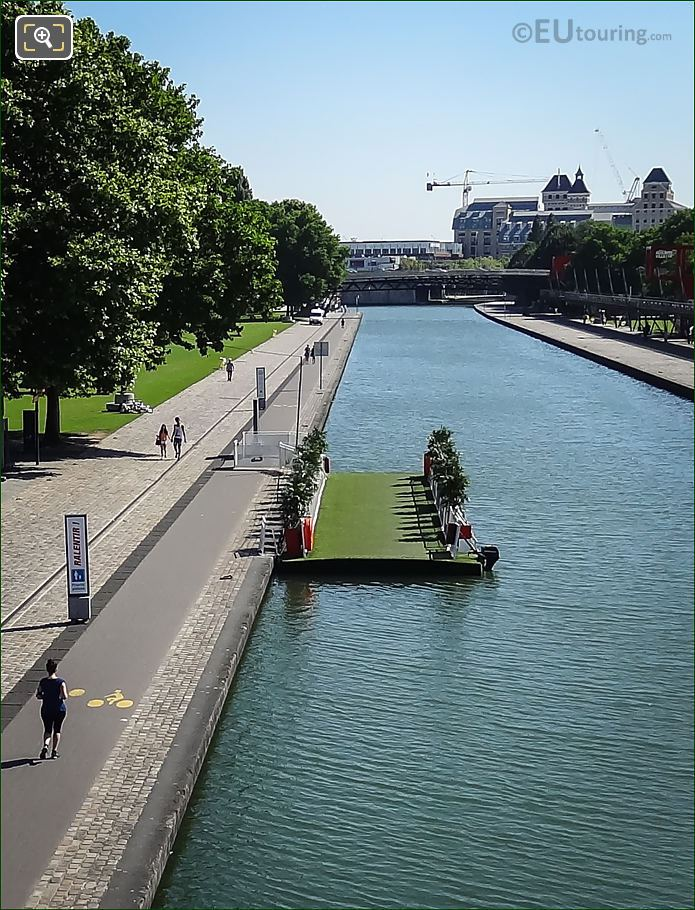 Floating Bridge In Park Villette