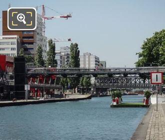 Pont Flottant De La Villette Moored