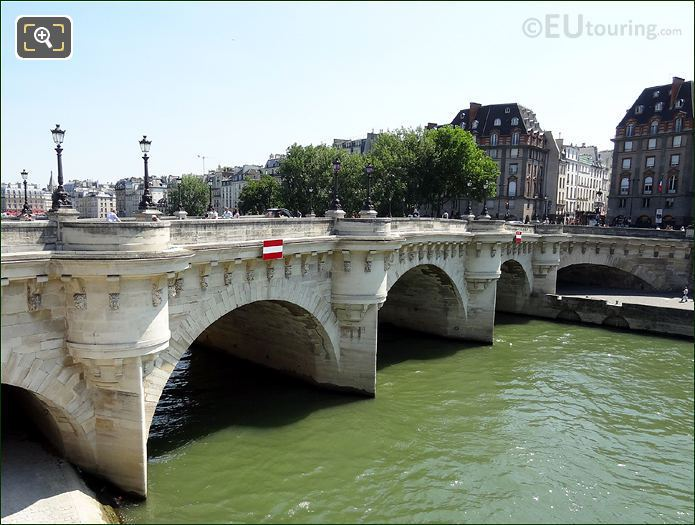Pont Neuf Bridge Connecting To The Left Bank