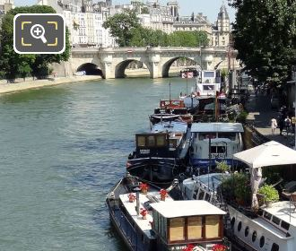 Houseboats Moored Up Near The Pont Neuf Bridge