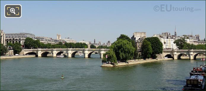 Pont Neuf Bridge Over The River Seine
