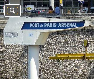 Port De l Arsenal Boat Crane