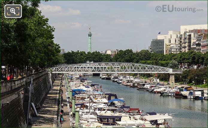 Port De l Arsenal And Colonne De Juillet