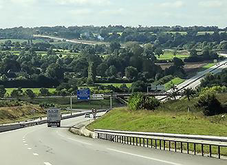 Toll road in France
