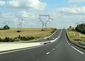 Driving on toll road in France