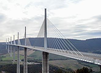 Millau viaduct road bridge in France