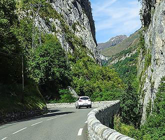 Driving through the French Pyrenees