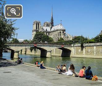 Pont l'Archeveche River Seine And Notre Dame