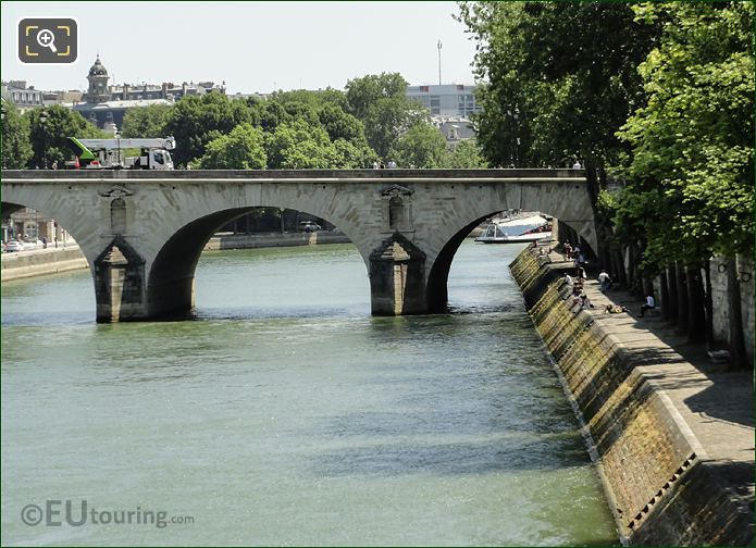 River Seine And Quai Bourdon Paris