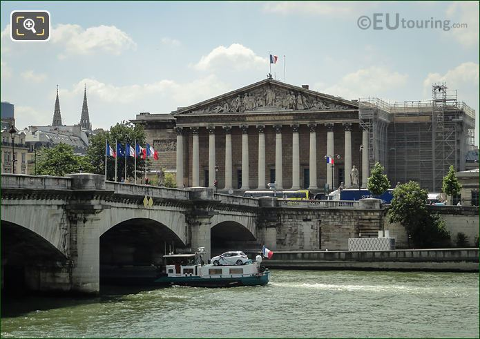 River Seine And Palais Bourbon Paris