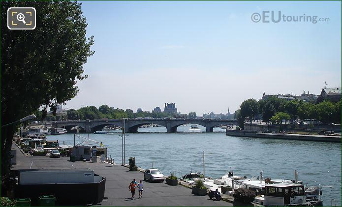Port Des Champs Elysees Along The River Seine