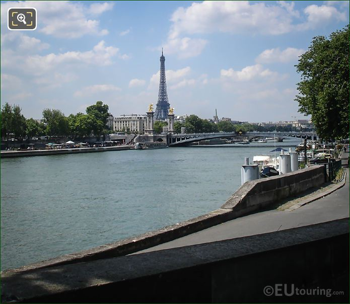 River Seine Viewed From Port Des Champs Elysees